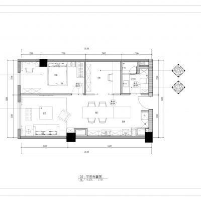现代风格公寓施工图CAD施工图