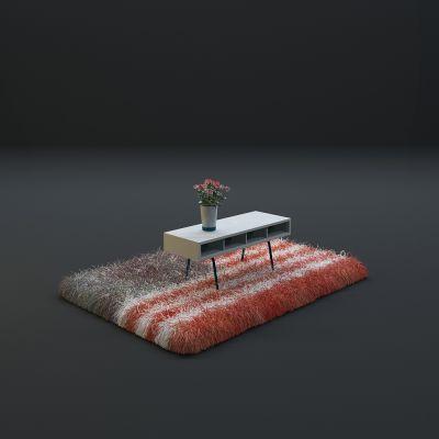 高品质地毯桌椅茶几等毛皮质感家具
