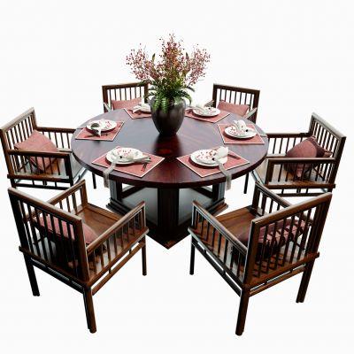 中式圆桌 餐桌3D模型