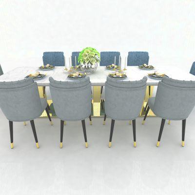 现代风格餐桌3D模型