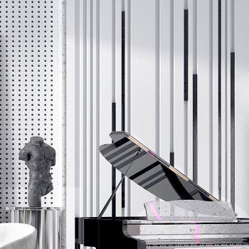 简欧高级灰客厅餐厅3D模型