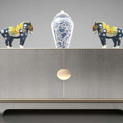 现代风格装饰柜3D模型