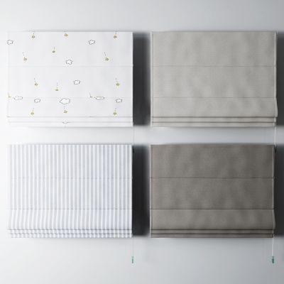 现代遮阳帘3D模型