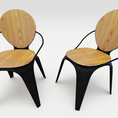 现代风格椅子3D模型