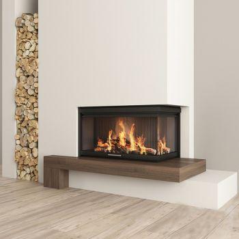 现代壁炉 柴火