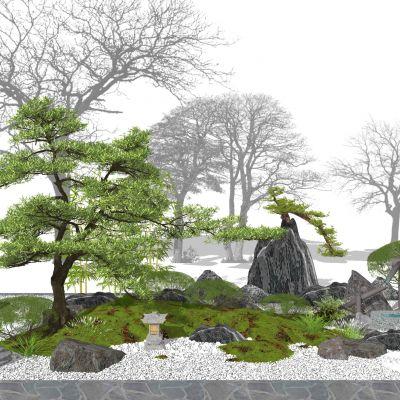 庭院景观小品3D模型