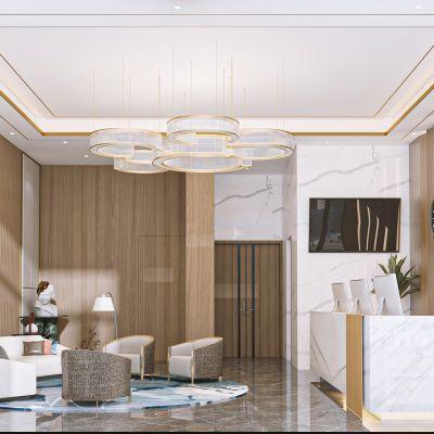 现代酒店大堂前台3d模型3D模型