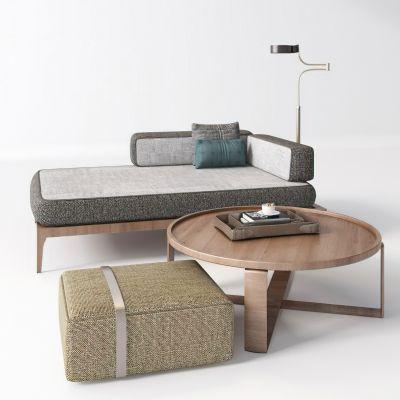 现代休闲沙发茶几落地灯