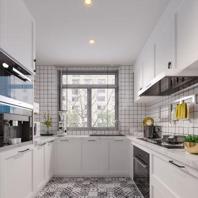 北欧现代简约轻奢风格厨房3D模型
