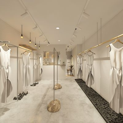 北欧风女装店3D模型