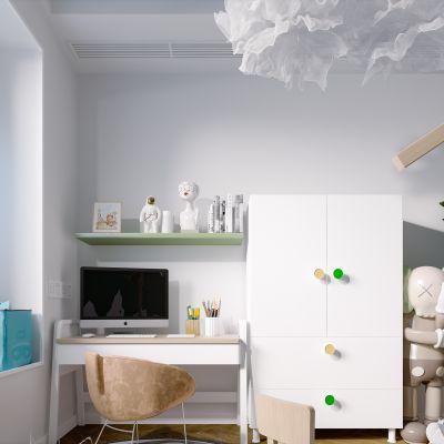 北欧现代简约轻奢风格儿童房3D模型
