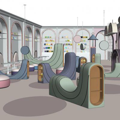 现代儿童图书馆3D模型