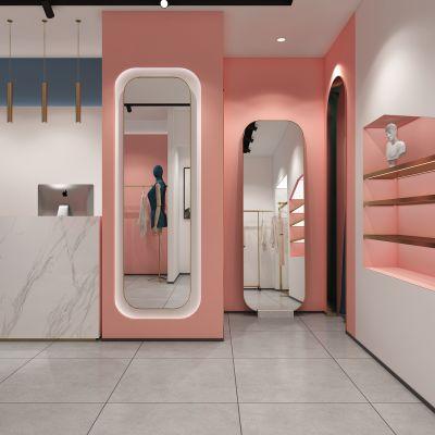 现代潮流服装店3D模型