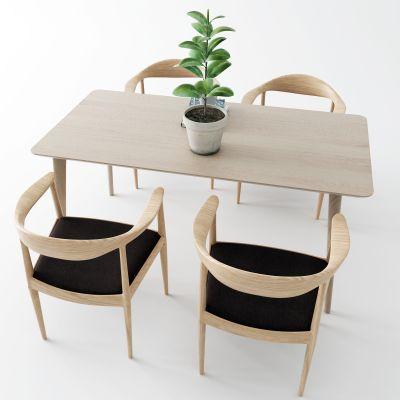 新中式餐桌3D模型