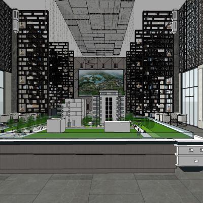 新中式售楼处3D模型