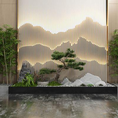 中式风格的景观3D模型