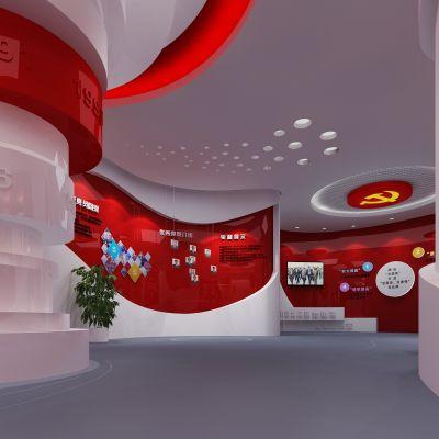 党建展厅模型3D模型