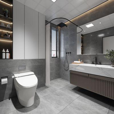 现代卫生间3D模型