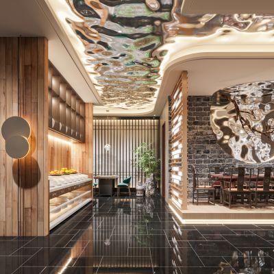 新中式火锅店3D模型