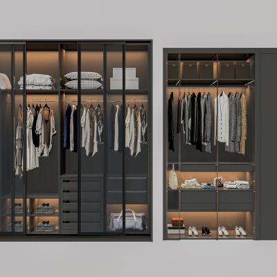 现代衣柜组合 3D模型