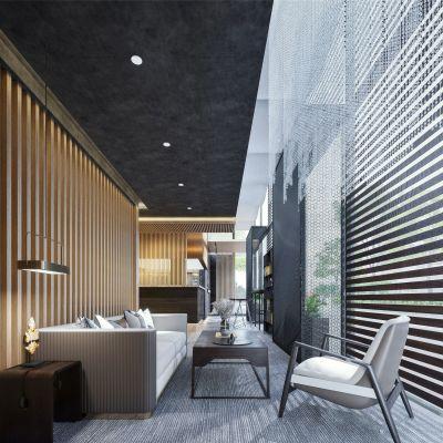 现代办公休闲区3D模型