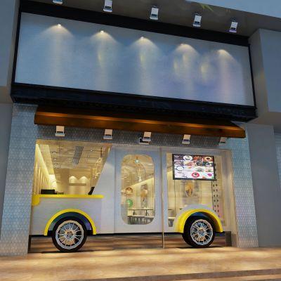现代工业风咖啡店施工CAD图CAD施工图