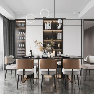 现代客餐厅3D模型