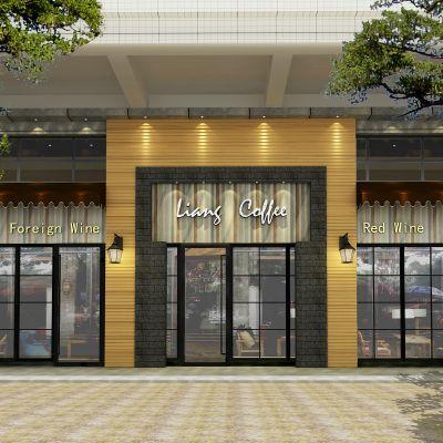 现代咖啡西餐厅装修CAD图CAD施工图
