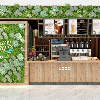 现代咖啡奶茶饮品店3D模型3D模型