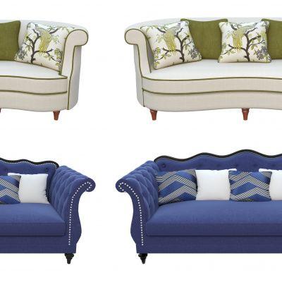 布艺沙发组合3D模型3D模型