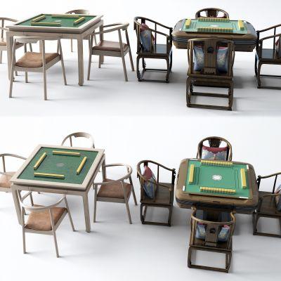 新中式麻将桌3D模型