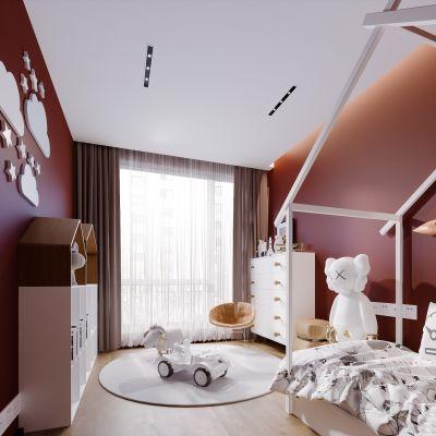 现代简约轻奢风格儿童房3D模型