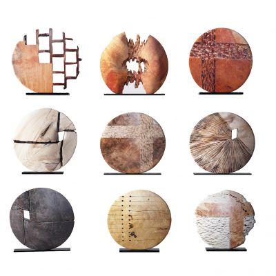 新中式圆形工艺品摆件3D模型