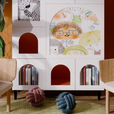 现代简约轻奢风格儿童休闲区3D模型