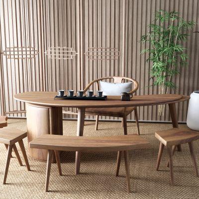 新中式茶桌3D模型