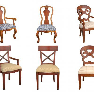美式餐椅组合3D模型3D模型