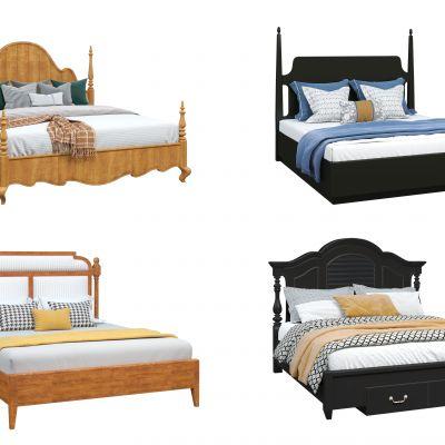 欧式床3D模型3D模型