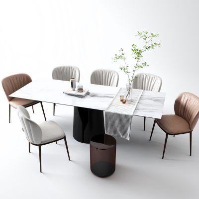 现代餐桌3D模型
