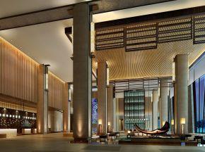 新中式酒店大堂休息区