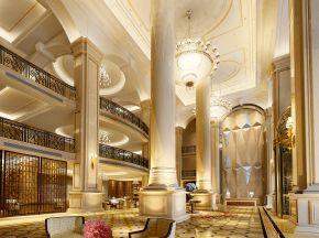 现代五星级酒店大厅