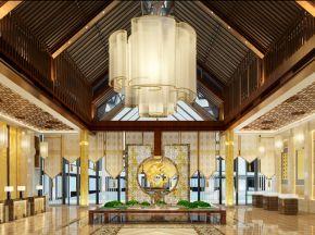 新中式酒店大堂下载