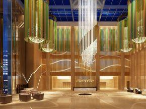 现代简约酒店大厅休息区下载