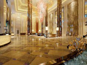 酒店大堂前台+休息接待区