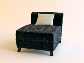 现代布艺单人沙发下载