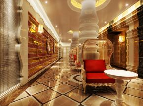 现代风格酒店休息区下载