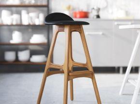简约复古美式实木吧台椅子酒吧椅现代高脚凳