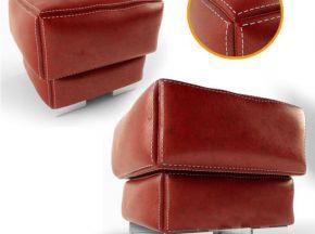 现代红色皮革沙发凳子