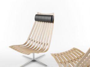 现代实木休闲椅
