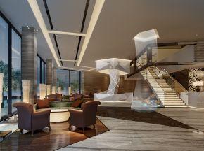 现代风格售楼中心沙盘/洽谈区整套