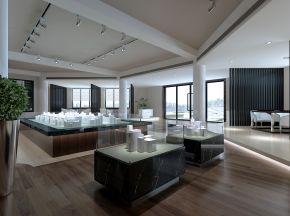 现代售楼处沙盘休息区